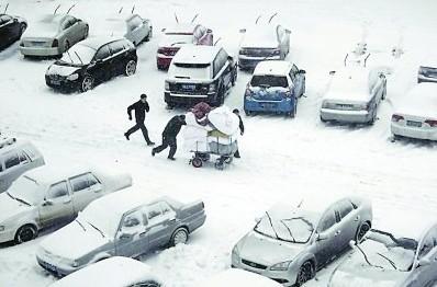 安徽遭遇寒潮降雪